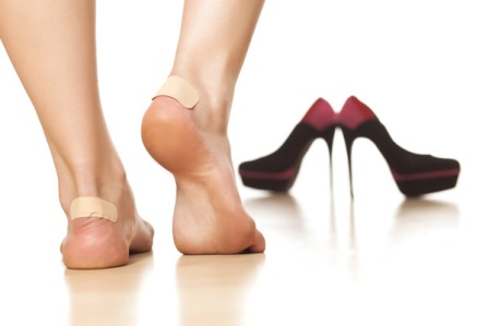Blister problem for ladies wearing high heels